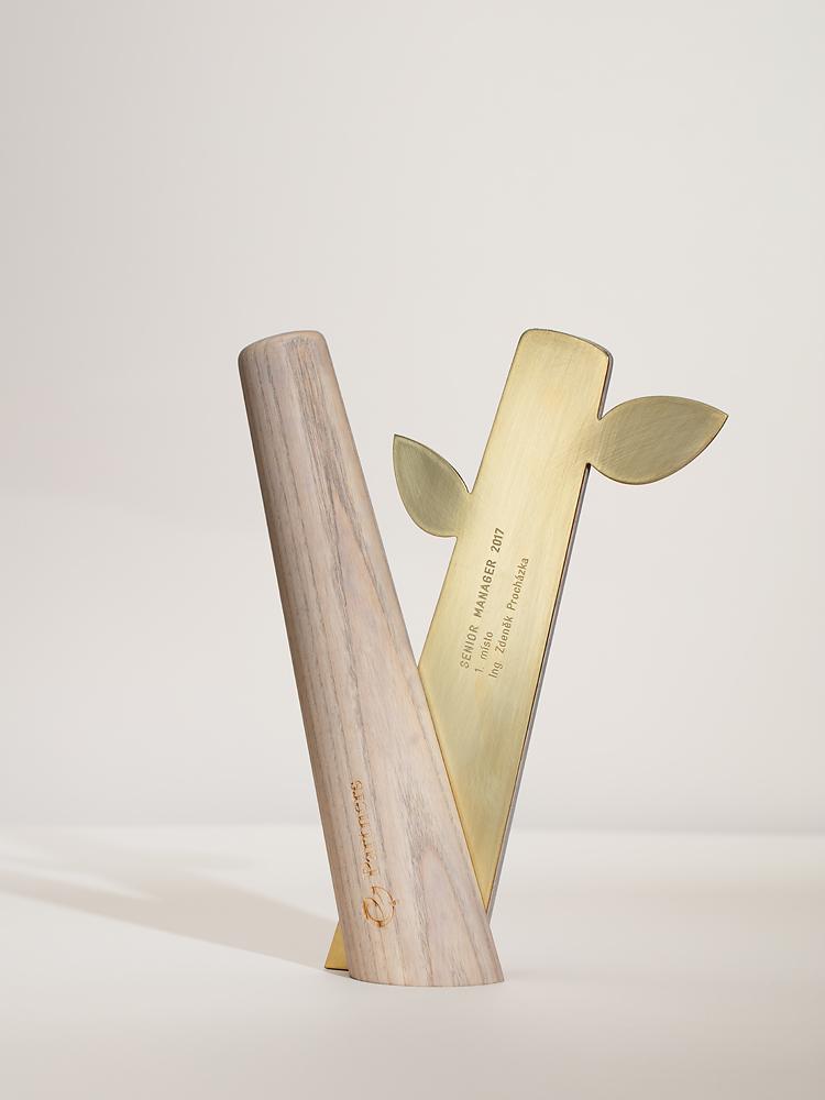 Trophy design for PARTNERS