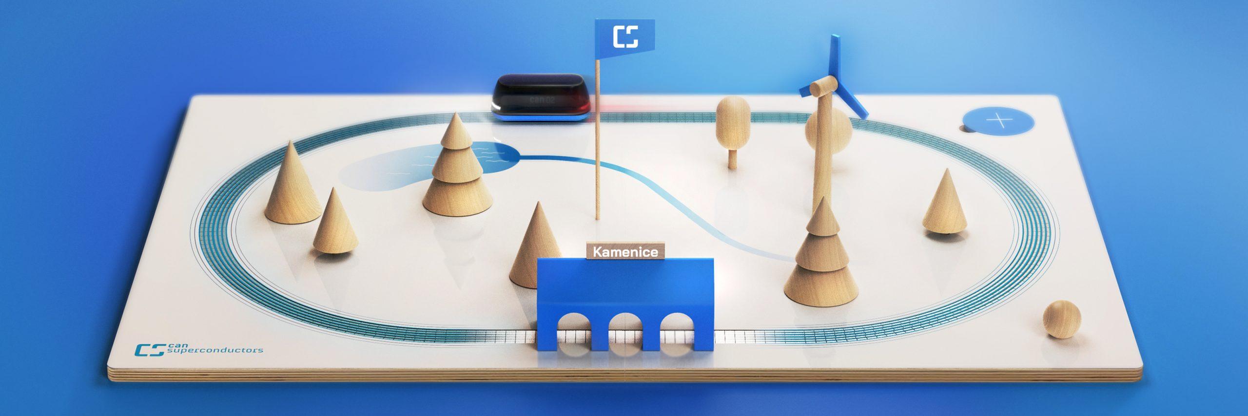 Výuková magnetická levitační sada pro prezentaci supravodičů CAN CONDUCTORS.